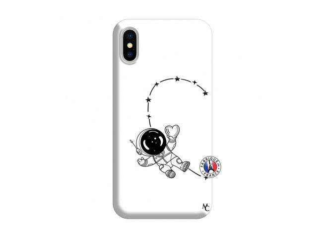 Coque iPhone X/XS Astro Girl Silicone Blanc