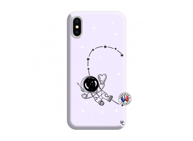 Coque iPhone X/XS Astro Girl Silicone Lilas