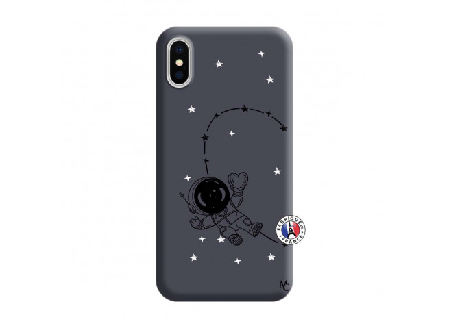 Coque iPhone X/XS Astro Girl Silicone Navy