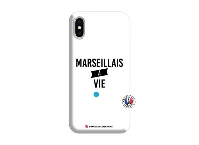 Coque iPhone X/XS Marseillais à Vie Silicone Blanc