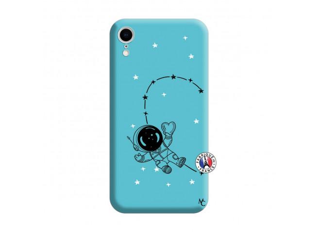 Coque iPhone XR Astro Girl Silicone Bleu
