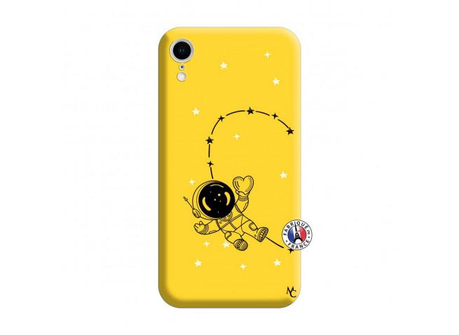Coque iPhone XR Astro Girl Silicone Jaune