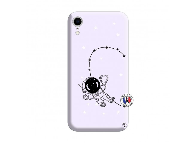 Coque iPhone XR Astro Girl Silicone Lilas