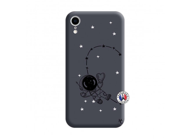 Coque iPhone XR Astro Girl Silicone Navy