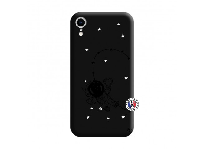 Coque iPhone XR Astro Girl Silicone Noir