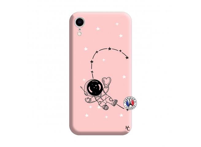 Coque iPhone XR Astro Girl Silicone Rose
