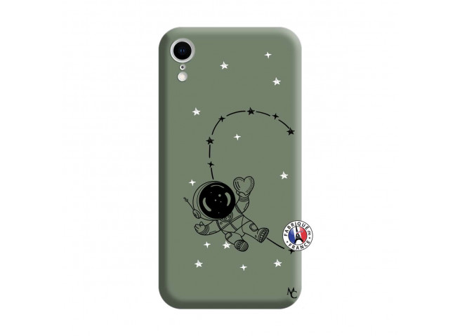 Coque iPhone XR Astro Girl Silicone Vert