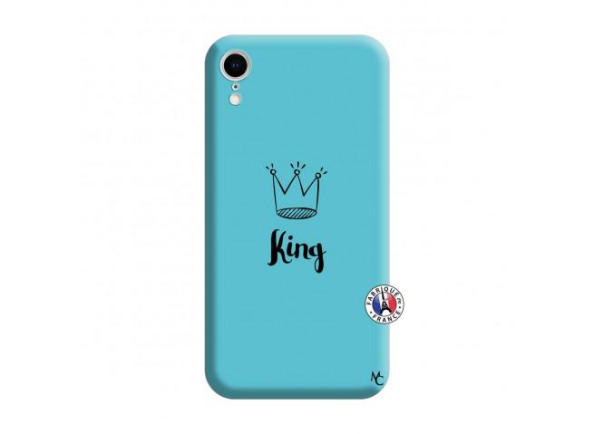 Coque iPhone XR King Silicone Bleu