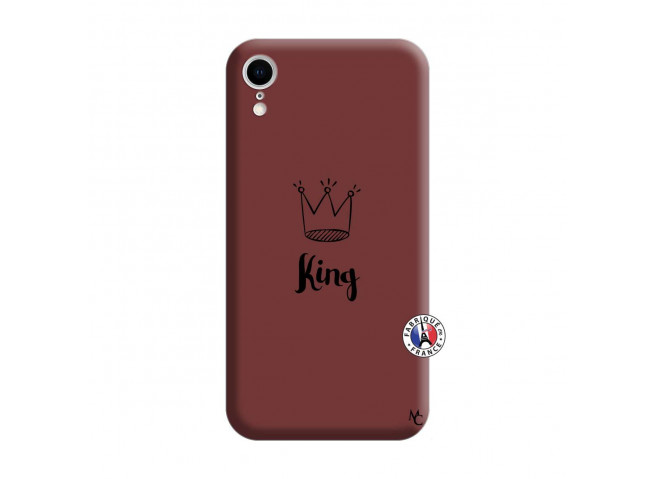 Coque iPhone XR King Silicone Bordeaux