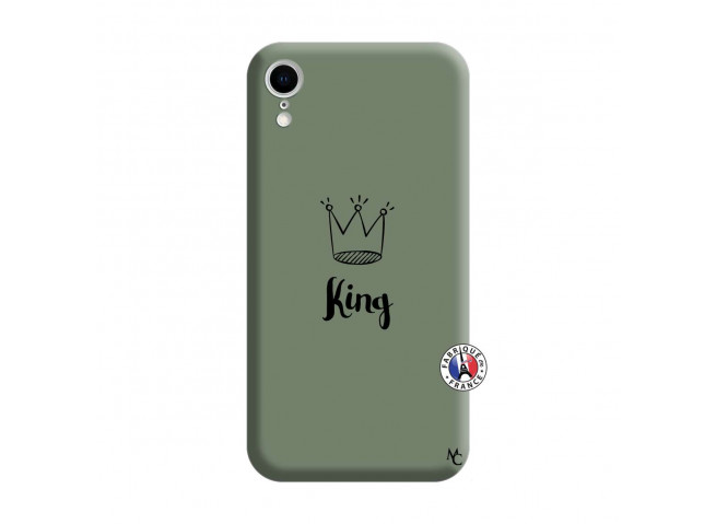 Coque iPhone XR King Silicone Vert