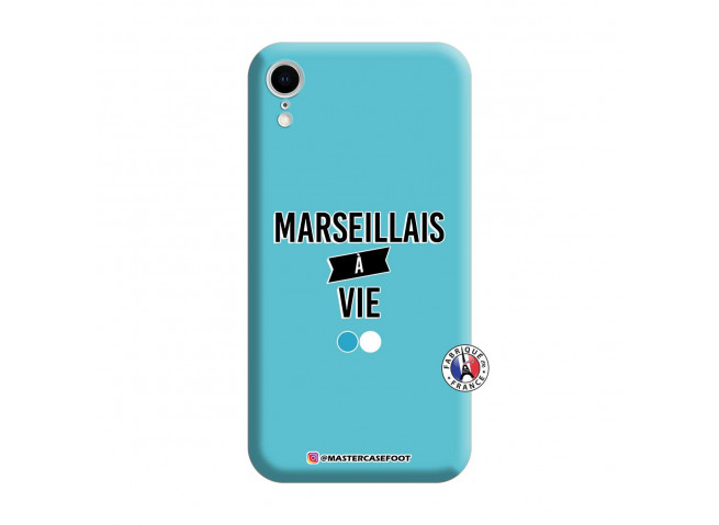 Coque iPhone XR Marseillais à Vie Silicone Bleu