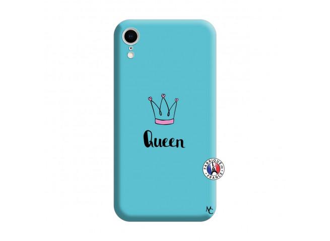 Coque iPhone XR Queen Silicone Bleu