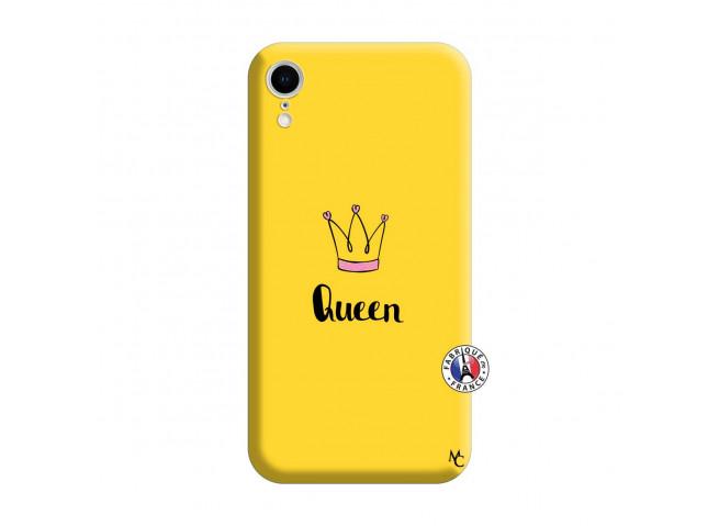 Coque iPhone XR Queen Silicone Jaune