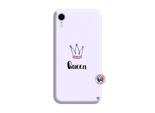 Coque iPhone XR Queen Silicone Lilas