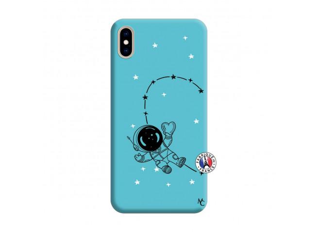 Coque iPhone XS MAX Astro Girl Silicone Bleu