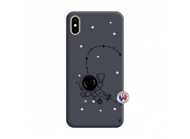 Coque iPhone XS MAX Astro Girl Silicone Navy