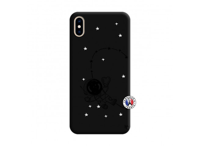 Coque iPhone XS MAX Astro Girl Silicone Noir