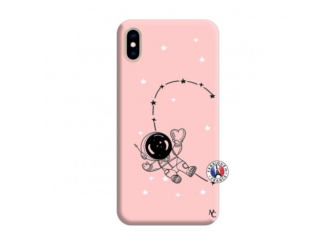 Coque iPhone XS MAX Astro Girl Silicone Rose