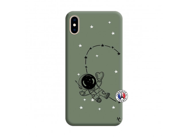 Coque iPhone XS MAX Astro Girl Silicone Vert