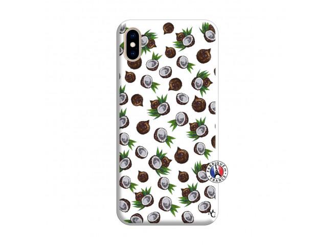Coque iPhone XS MAX Coco Silicone Blanc