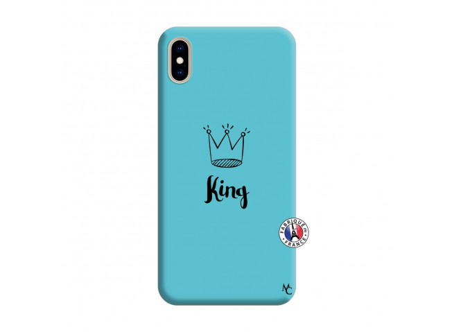 Coque iPhone XS MAX King Silicone Bleu