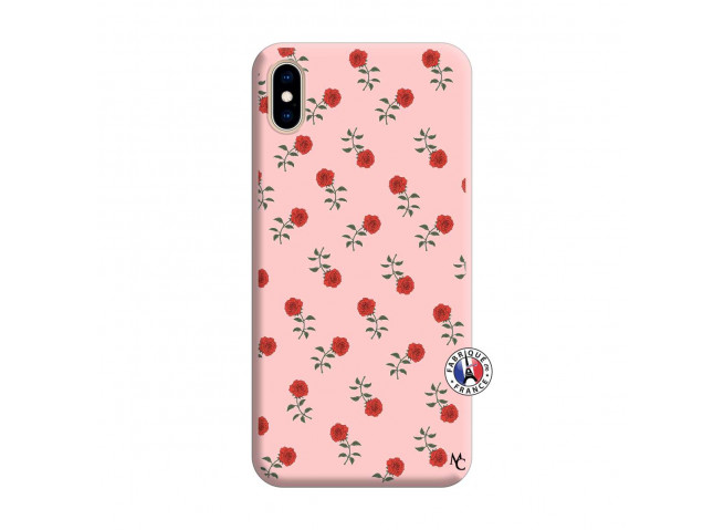 Coque iPhone XS MAX Rose Pattern Silicone Rose