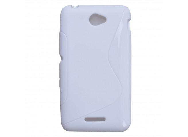 Coque Sony Xperia E4 Silicone Grip-Blanc