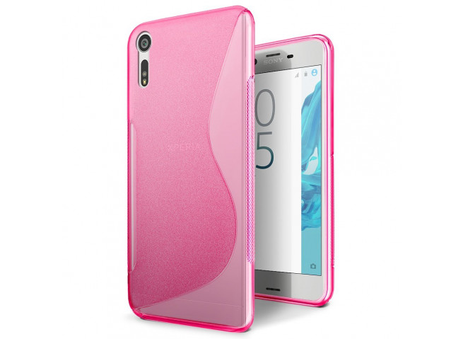 Coque Sony Xperia XZ Silicone Grip-Rose