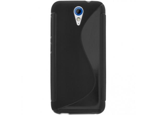 Coque HTC Desire 620 Silicone Grip Noir