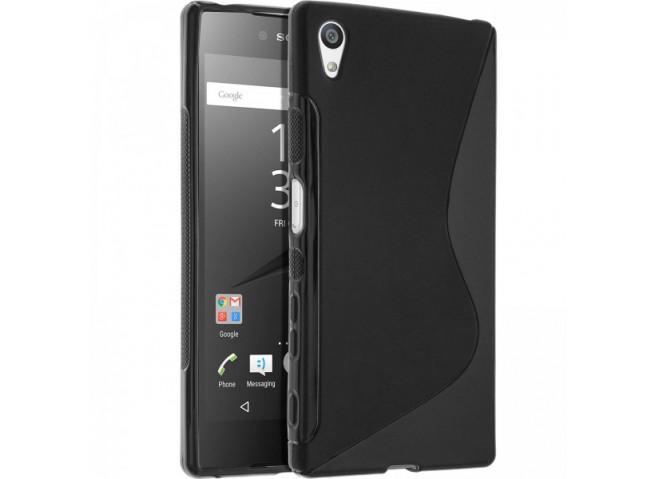 Coque Sony Xperia E5 Silicone Grip-Noir