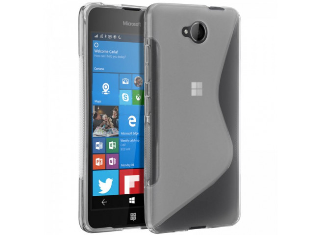 Coque Microsoft Lumia 650 Silicone Grip-Noir