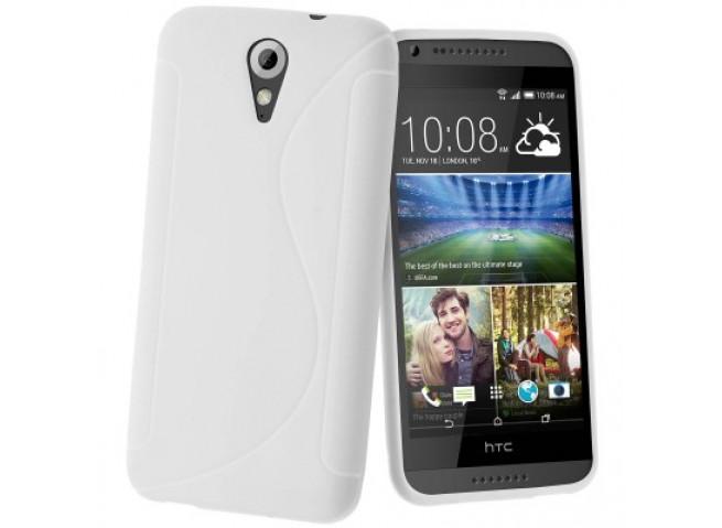 Coque HTC Desire 620 Silicone Grip Blanc