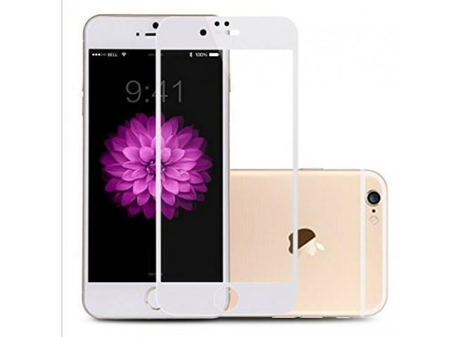 Film Protecteur iPhone 6/6S- 3D en Verre trempé (Full écran)-Blanc