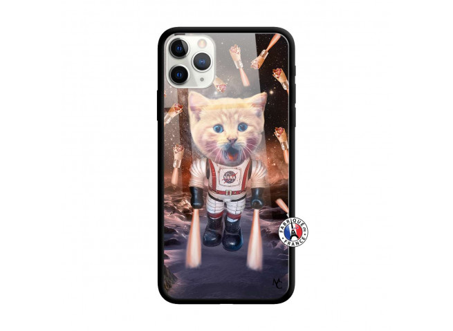 Coque iPhone 11 PRO MAX Cat Nasa Verre Trempe