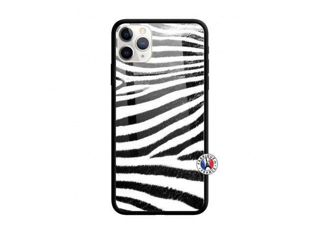 Coque iPhone 11 PRO MAX Zebre Style Verre Trempe