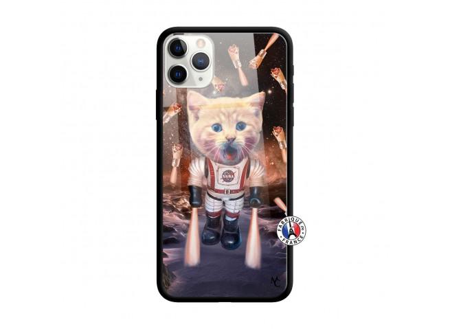 Coque iPhone 11 PRO Cat Nasa Verre Trempe