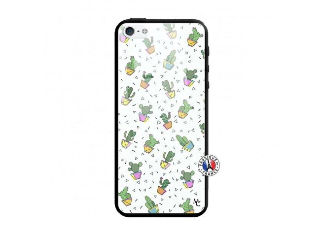 Coque iPhone 5/5S/SE Le Monde Entier est un Cactus Verre Trempe
