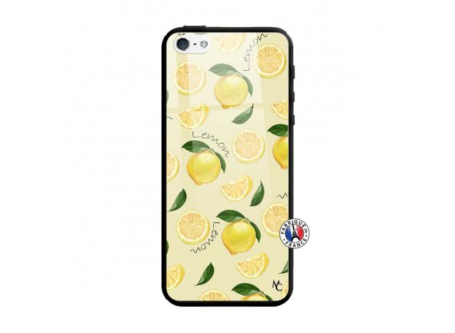Coque iPhone 5/5S/SE Sorbet Citron Verre Trempe