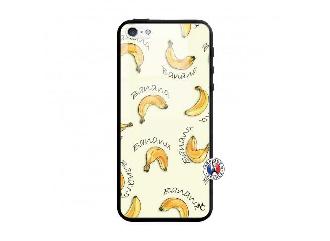 Coque iPhone 5/5S/SE Sorbet Banana Split Verre