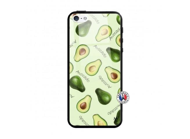 Coque iPhone 5/5S/SE Sorbet Avocat Verre