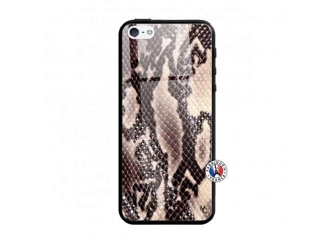 Coque iPhone 5/5S/SE Snake Style Verre Trempe
