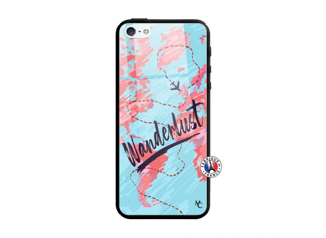 Coque iPhone 5/5S/SE Wanderlust Verre Trempe