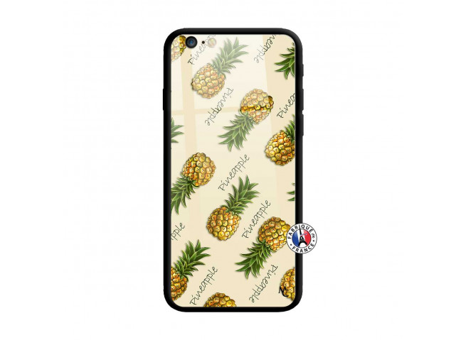 Coque iPhone 6 Plus/6s Plus Sorbet Ananas Verre