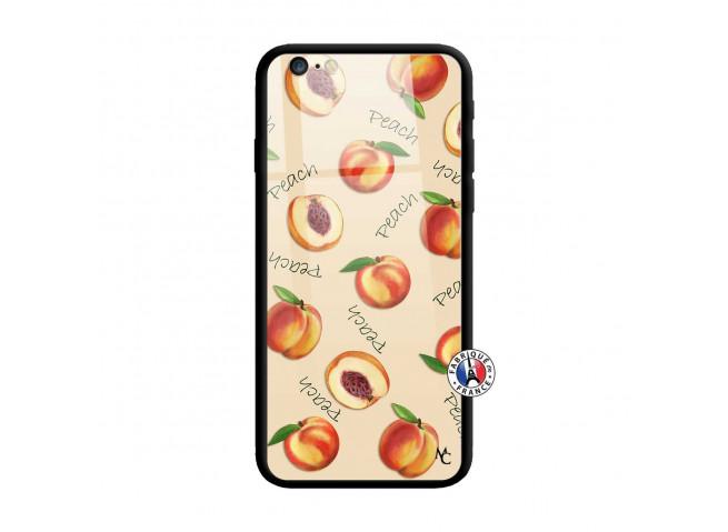 Coque iPhone 6 Plus/6s Plus Sorbet Pêche Verre