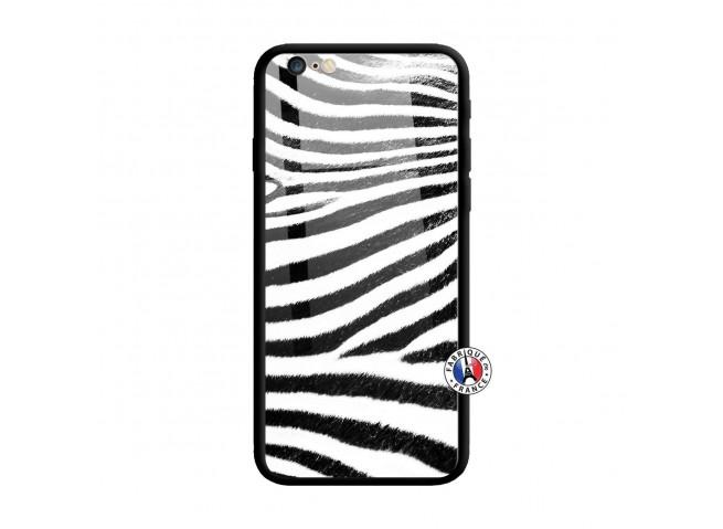 Coque iPhone 6 Plus/6s Plus Zebre Style Verre Trempe