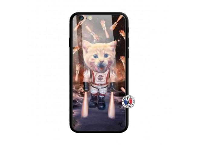 Coque iPhone 6/6S Cat Nasa Verre Trempe