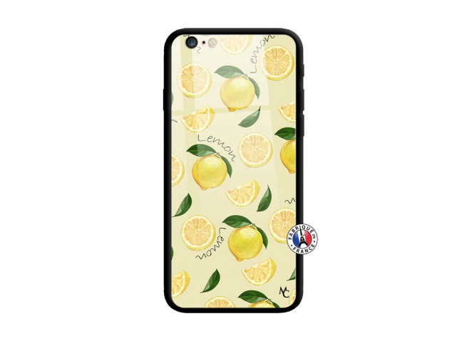 Coque iPhone 6/6S Sorbet Citron Verre Trempe