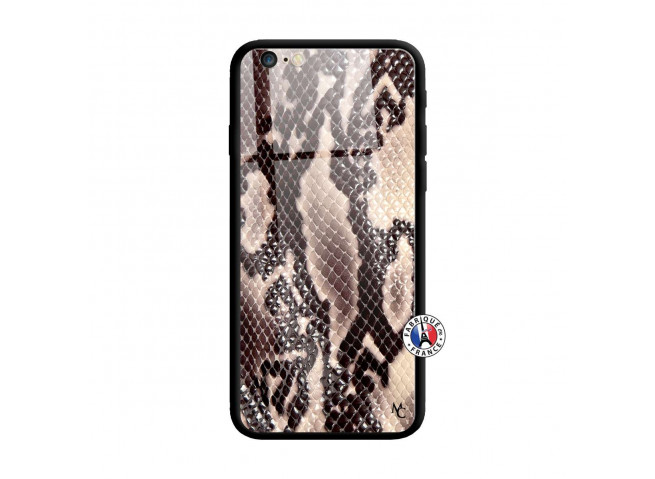 Coque iPhone 6/6S Snake Style Verre Trempe