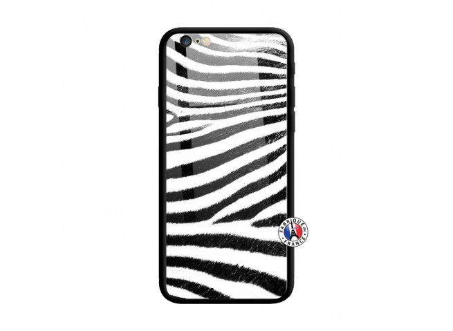 Coque iPhone 6/6S Zebre Style Verre Trempe