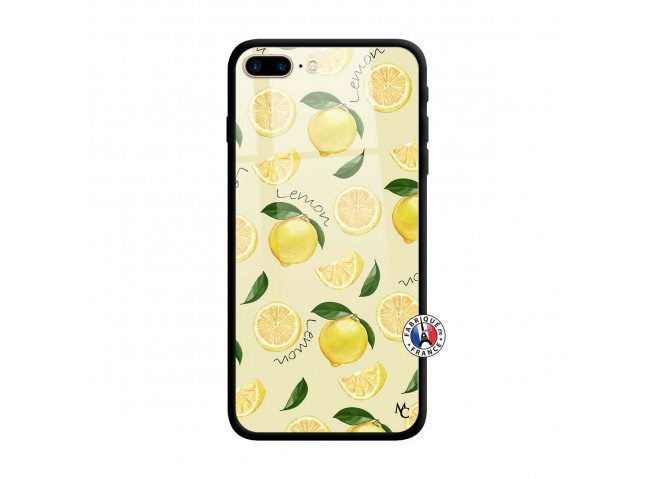 Coque iPhone 7 Plus/8 Plus Sorbet Citron Verre Trempe
